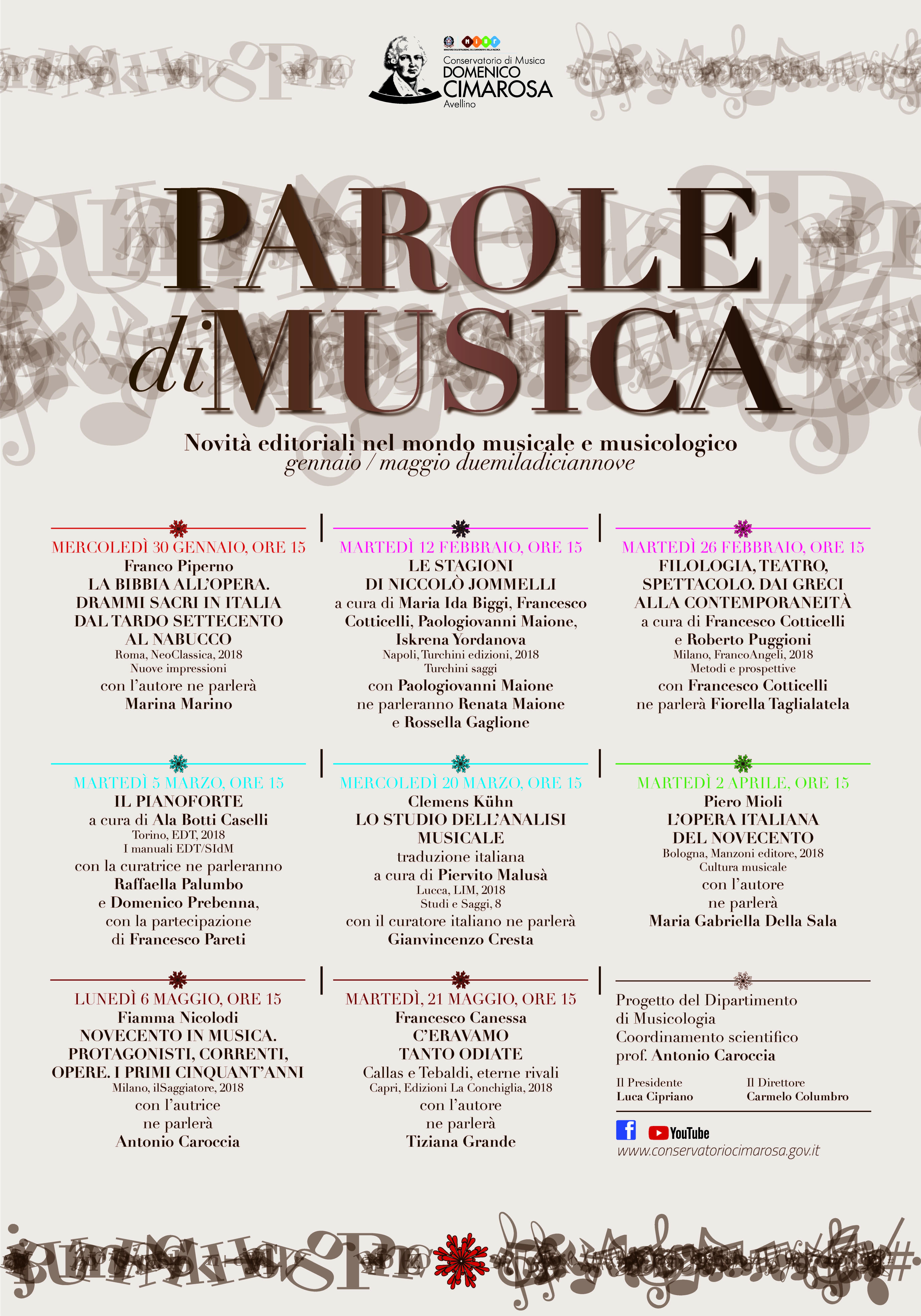 PAROLE DI MUSICA 2019