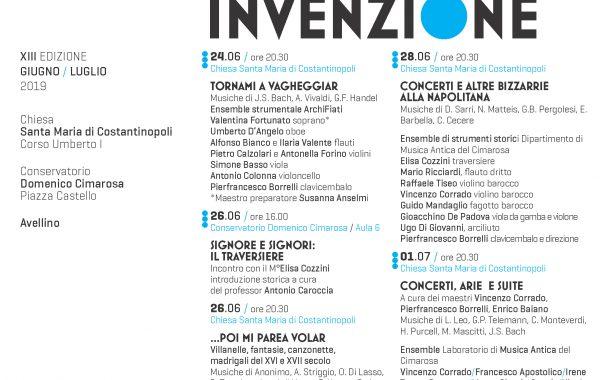 IL CIMENTO DELL'ARMONIA E DELL'INVENZIONE 2019